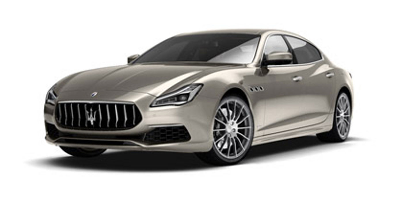 New Maserati Quattroporte Sport GranLusso - champagne, front and side view