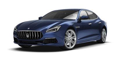 Blue Passion Maserati Quattroporte GranLusso - front and side view