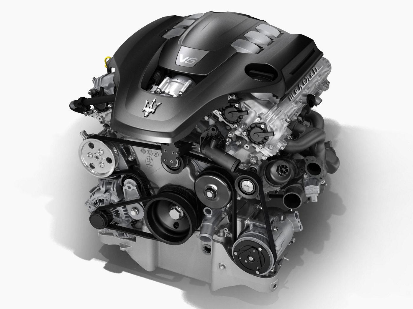 Maserati Quattroporte V6 engine - structure view
