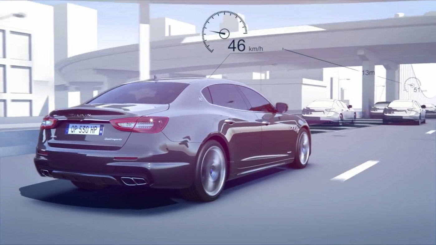 Maserati Quattroporte features - Advanced Driver Assistance System - 3D Video simulation