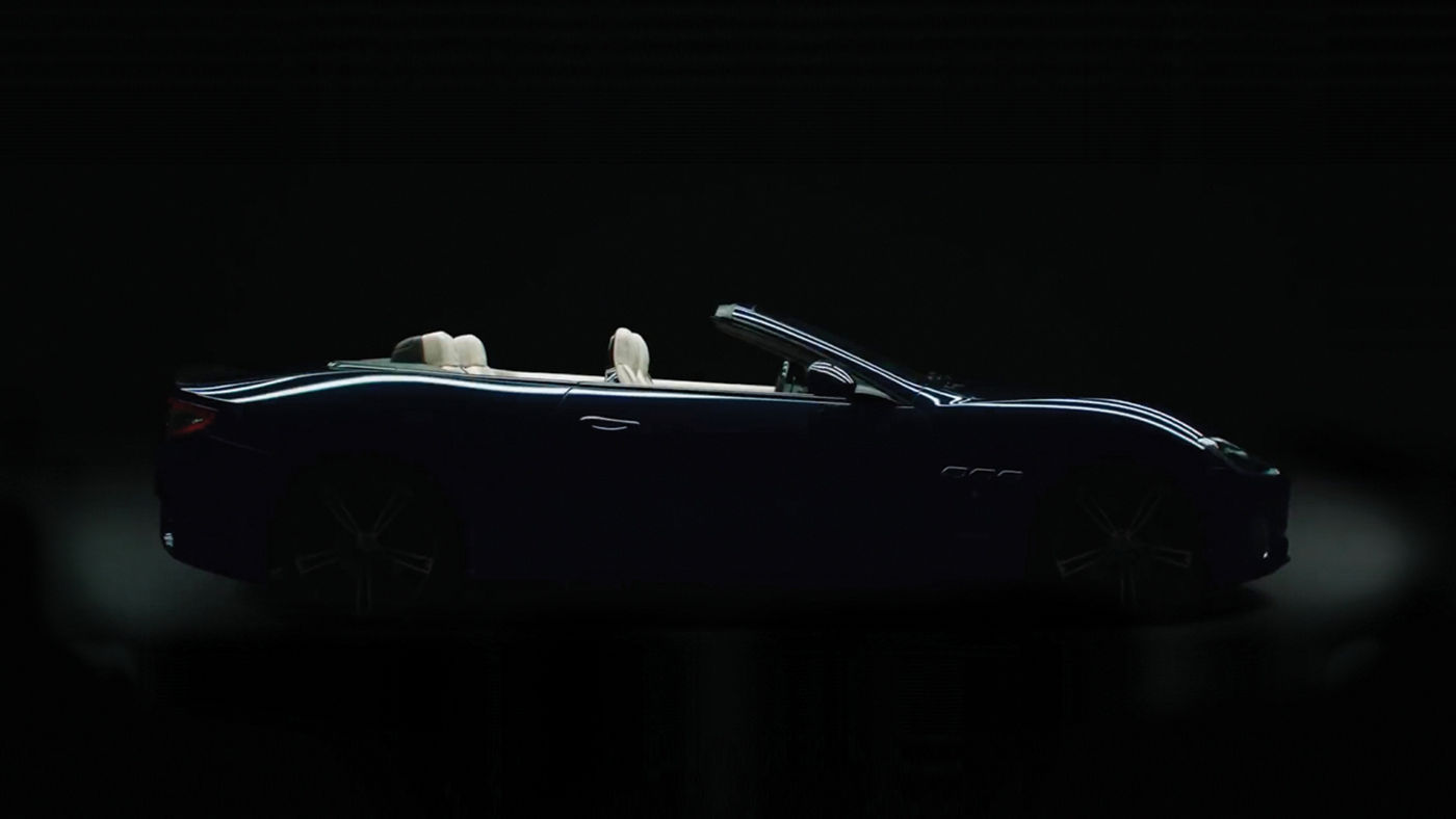 Maserati GranCabrio - Vue de profil - Vidéo 'Philosophie GranTurismo.'