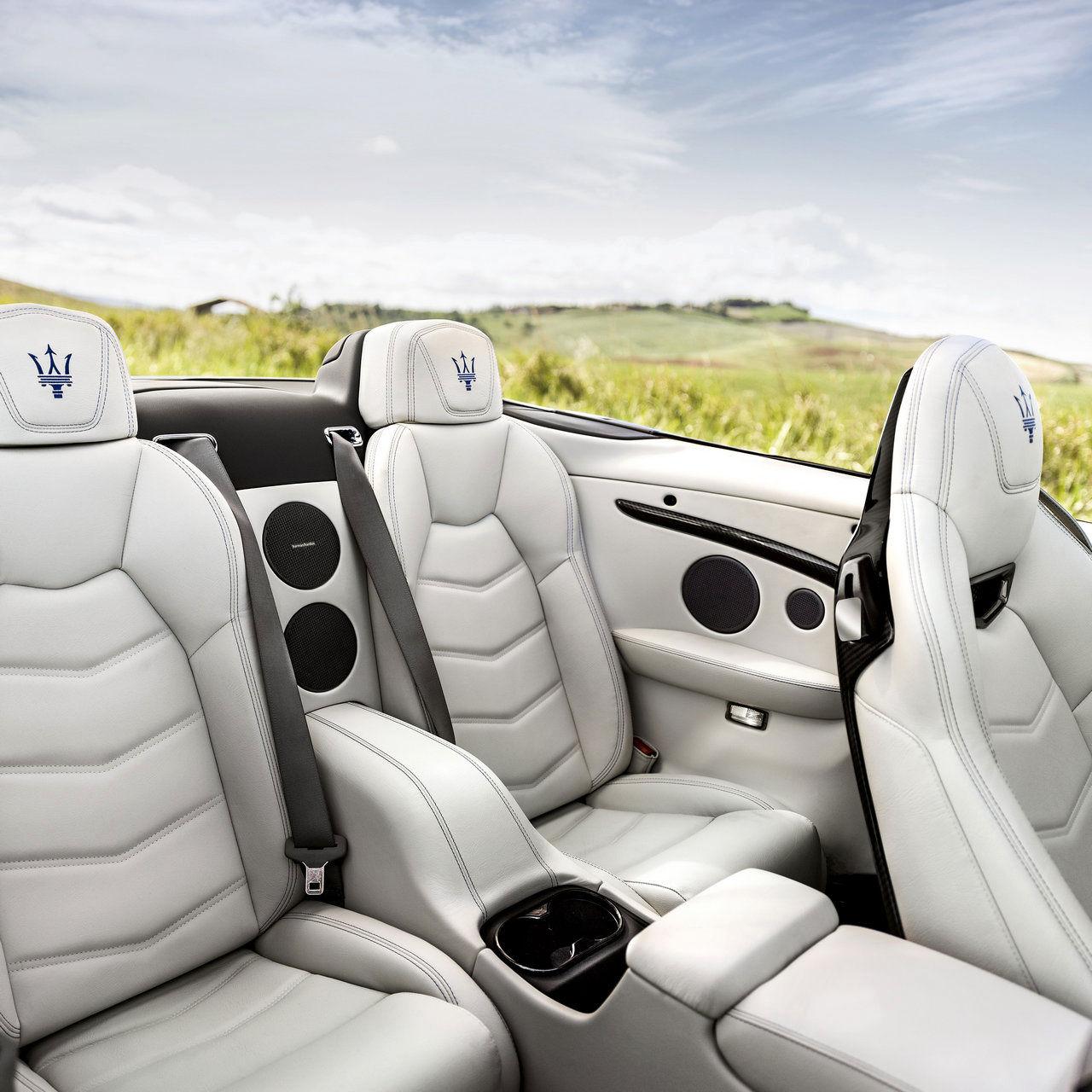 Maserati Cabriolet GranTurismo - Détail de sièges et intérieurs