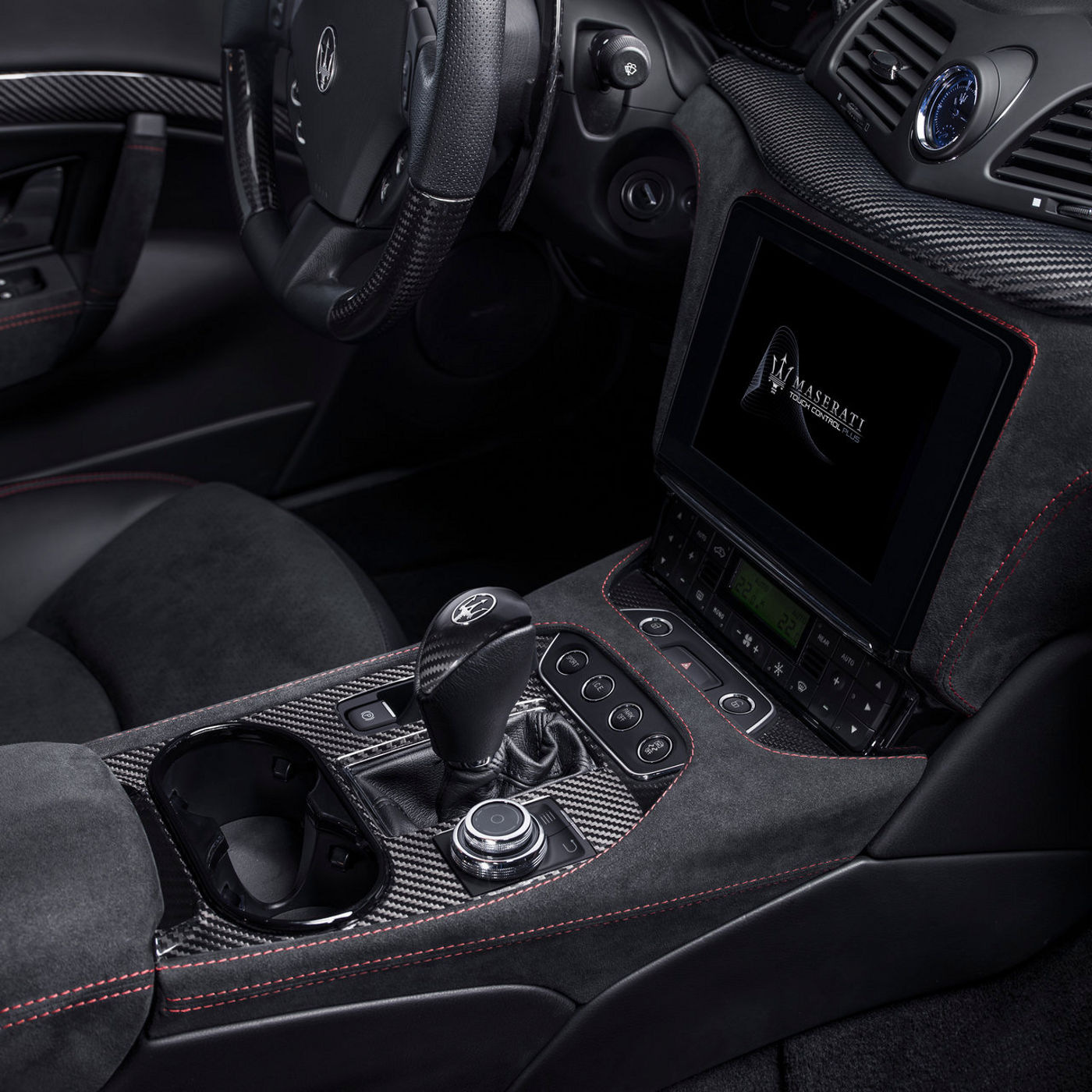Maserati luxury interiors - A detail with black leather