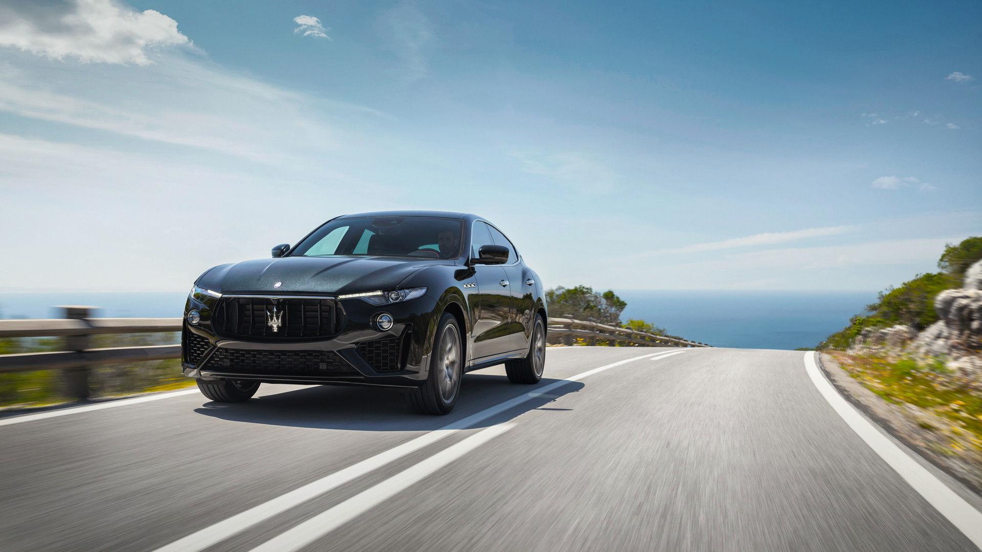 Maserati Levante on the road - seaside background