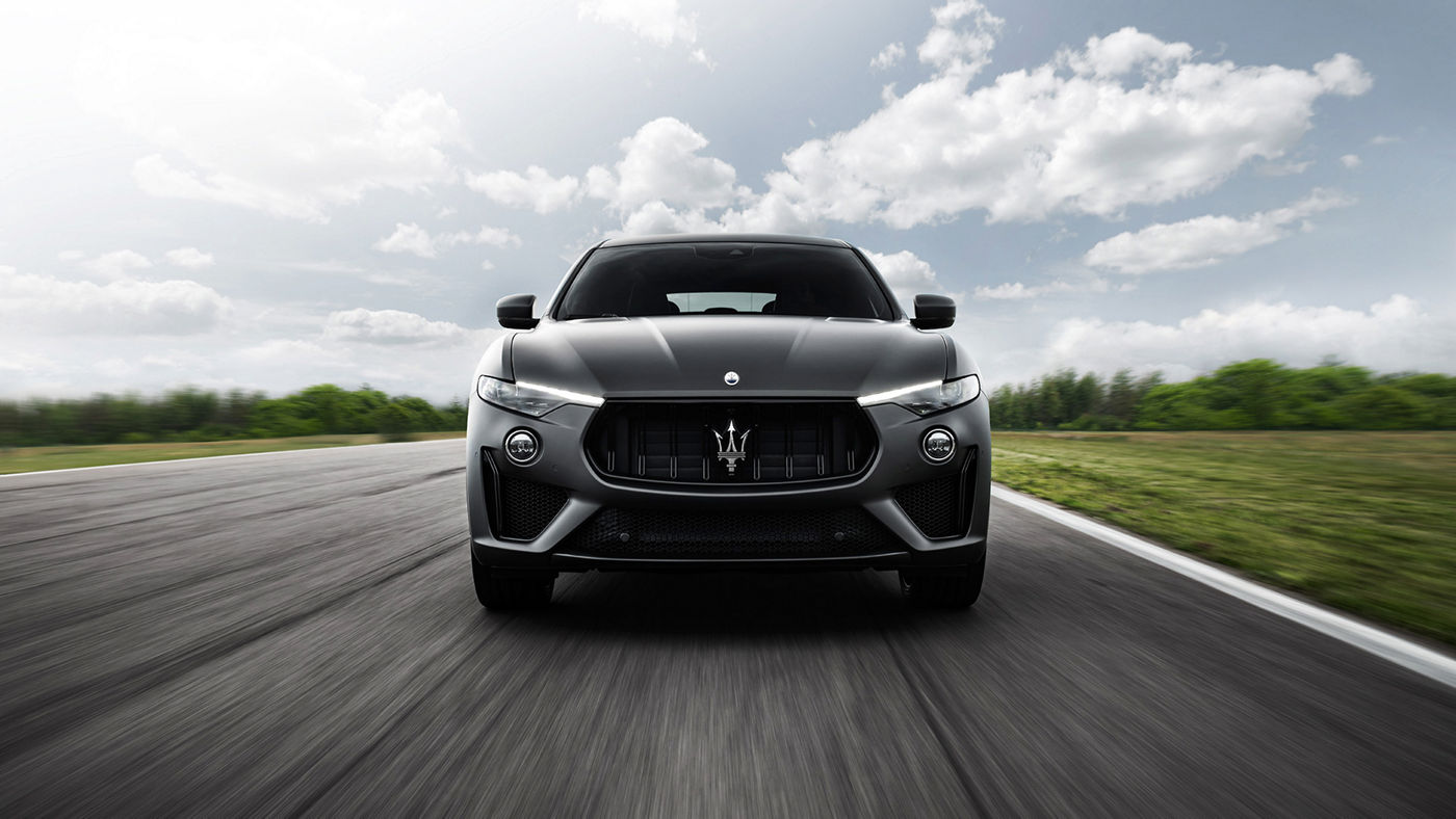 Maserati Levante Trofeo – the luxury SUV on the road, front view