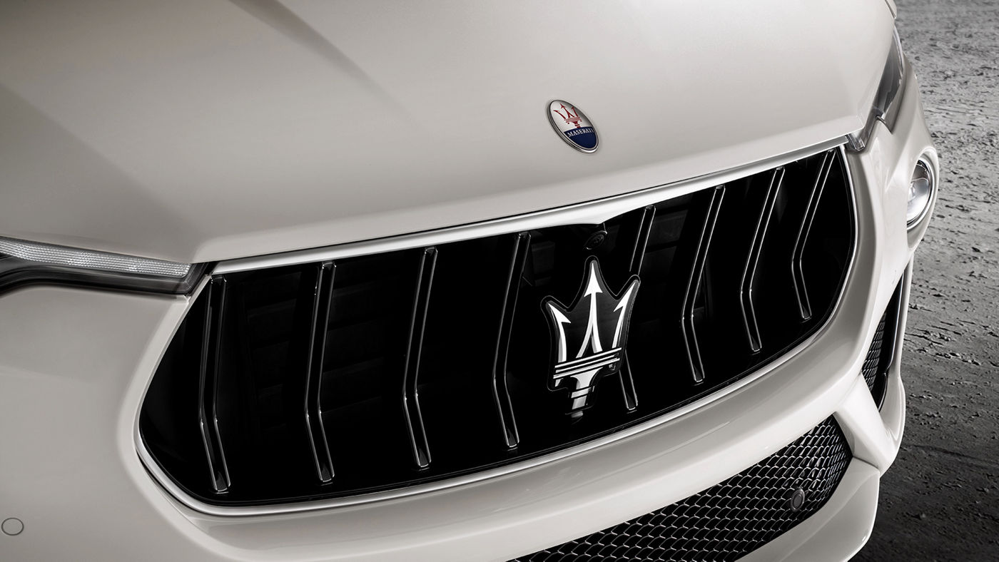 Levante GTS – front grille with Trident's logo