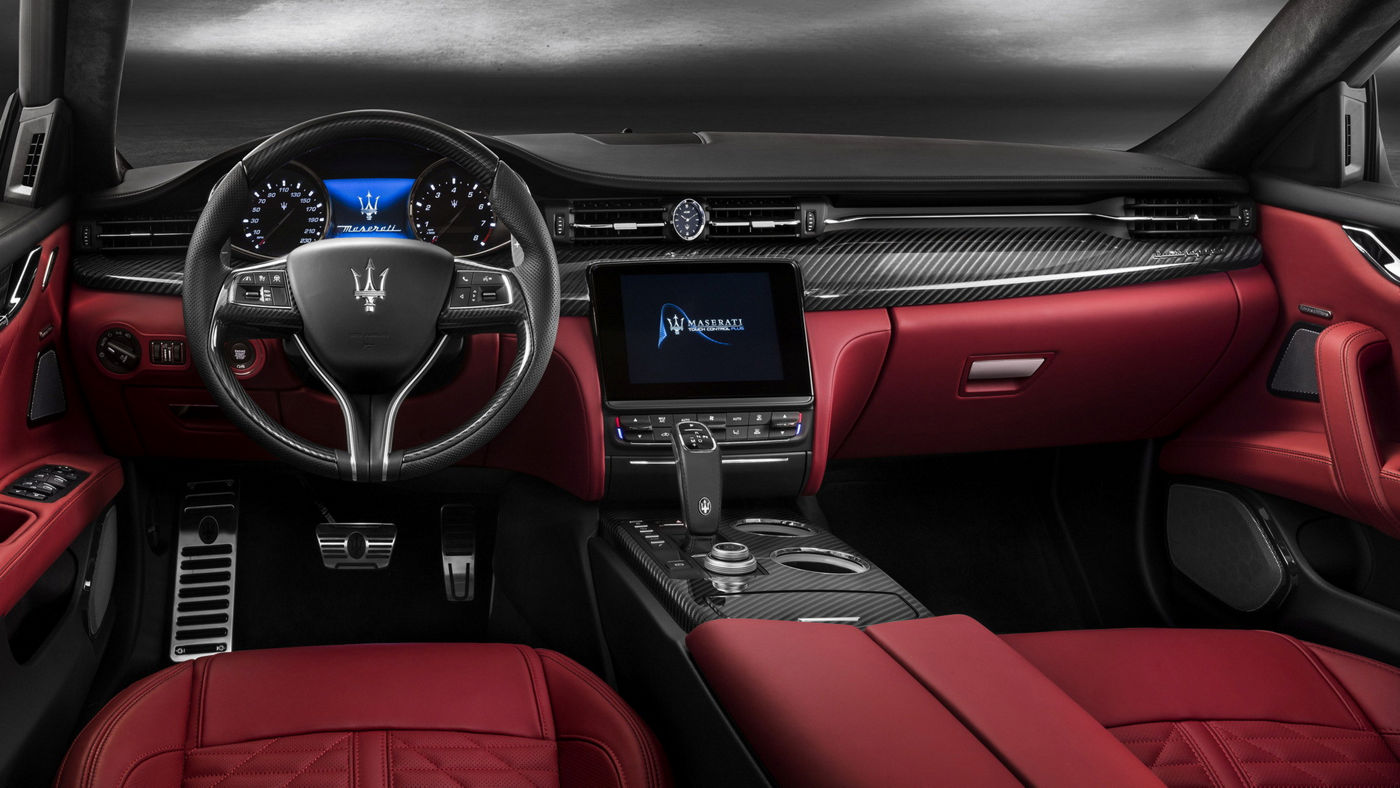 Maserati Quattroporte GTS - Détail intérieur - Rosso
