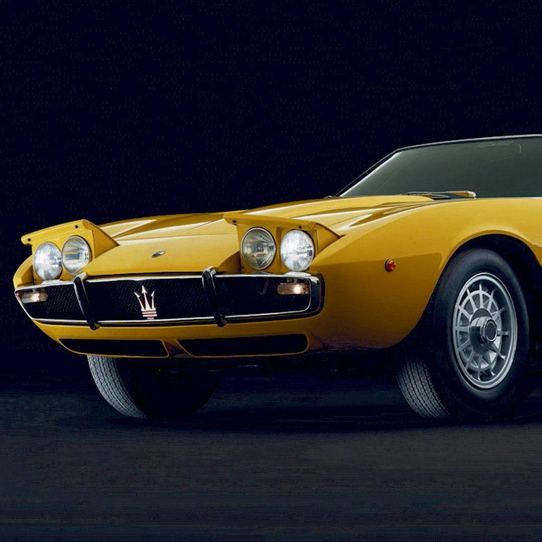 Maserati Ghibli - Erste Inkarnation 1966 - Gelb - Seitenansicht