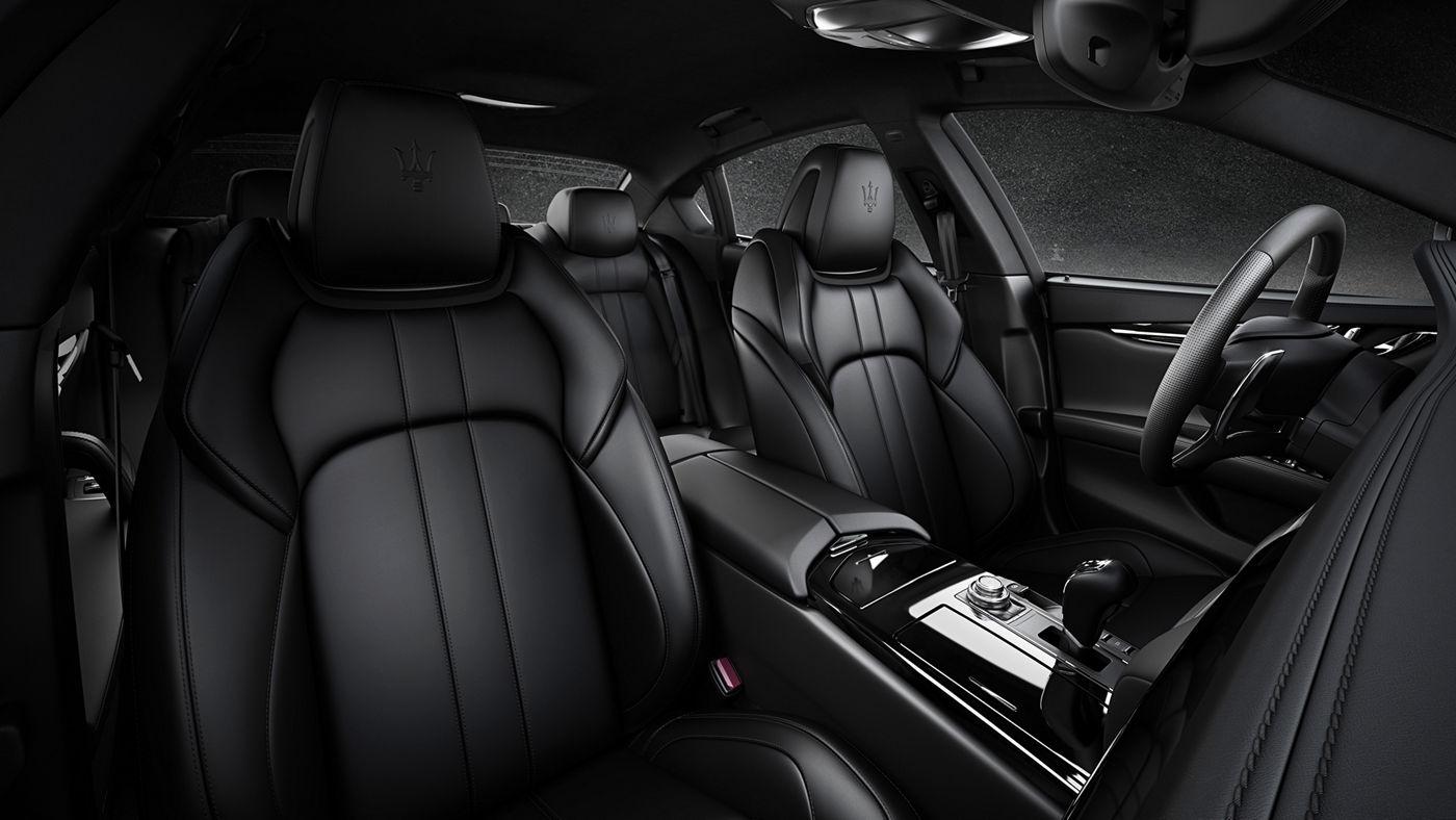 Maserati Quattroporte - Sedan - Interior design - Black leather
