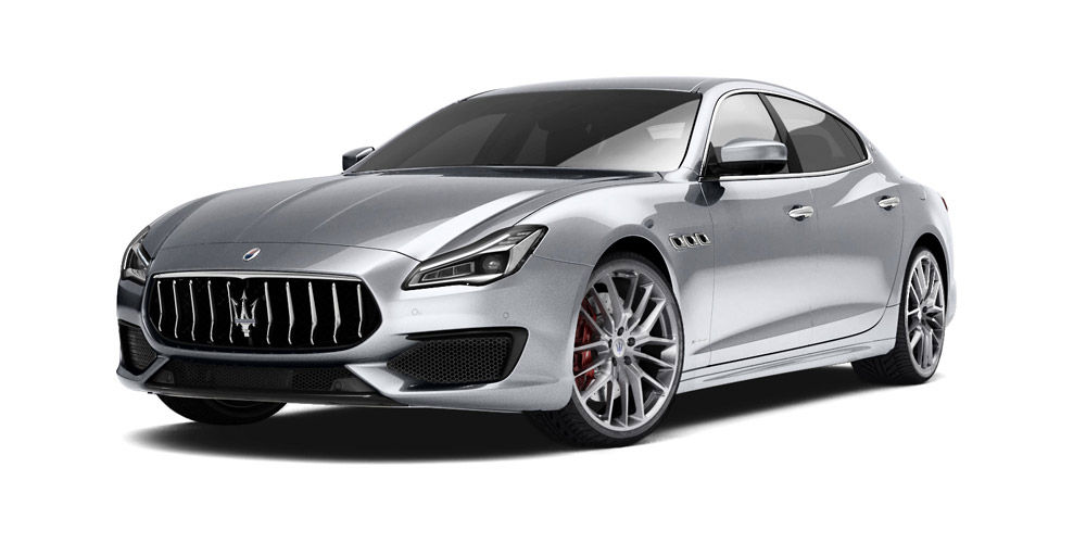 Maserati Quattroporte - front and side view