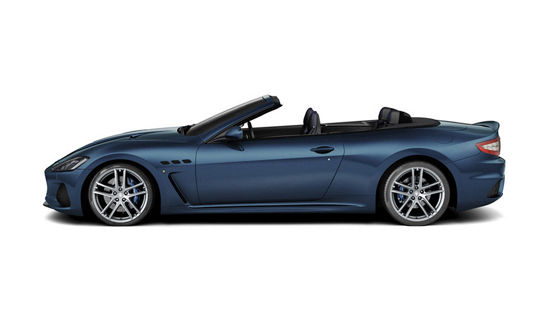 Maserati GranCabrio MC Blu - studio, vista laterale