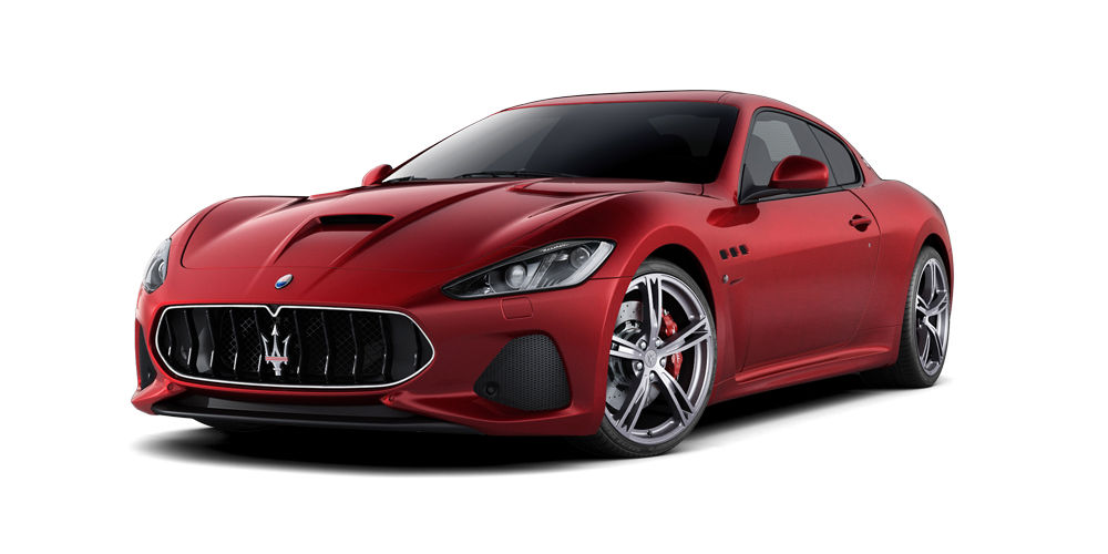 Red GranTurismo MC by Maserati - front and side view