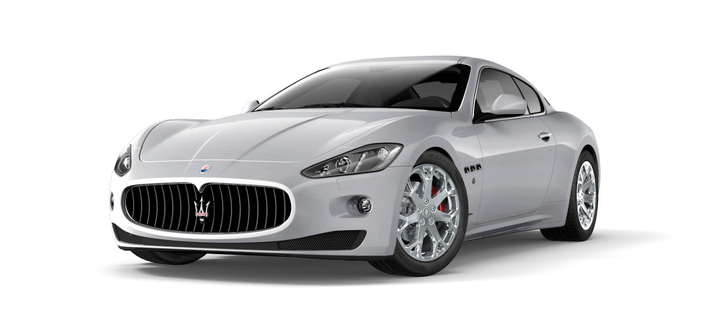 White Maserati GranTurismo - Sedan - Side view