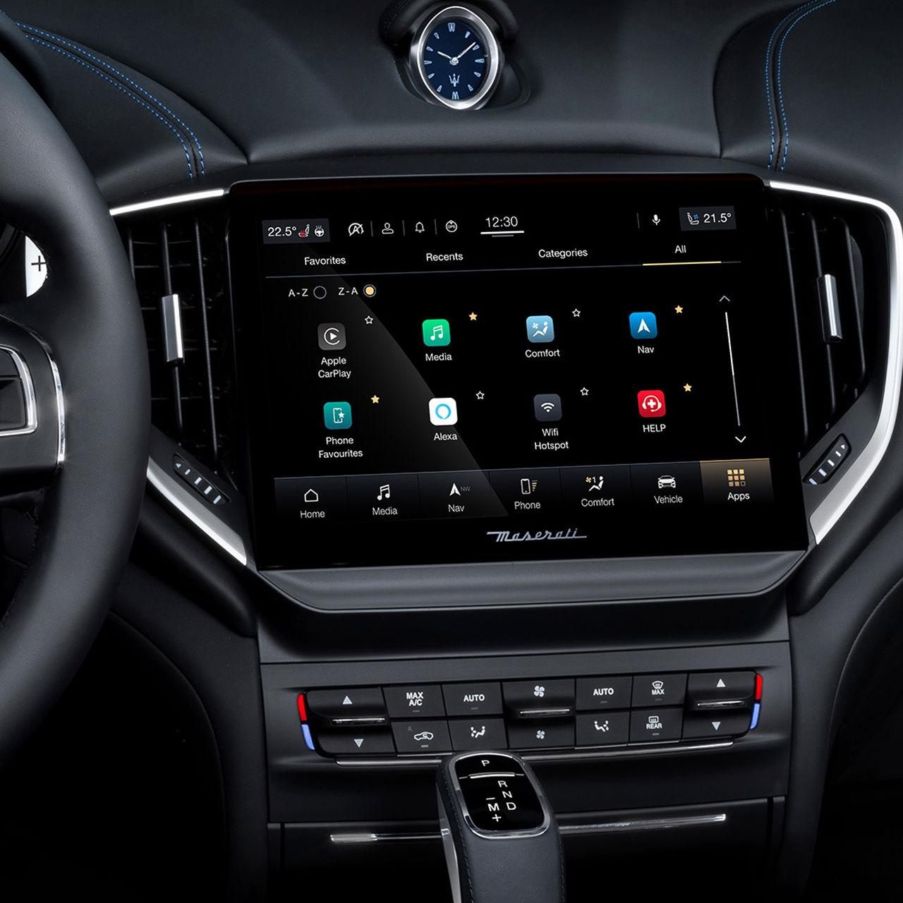 Maserati Connect - Maserati Ghibli Hybrid's dashboard