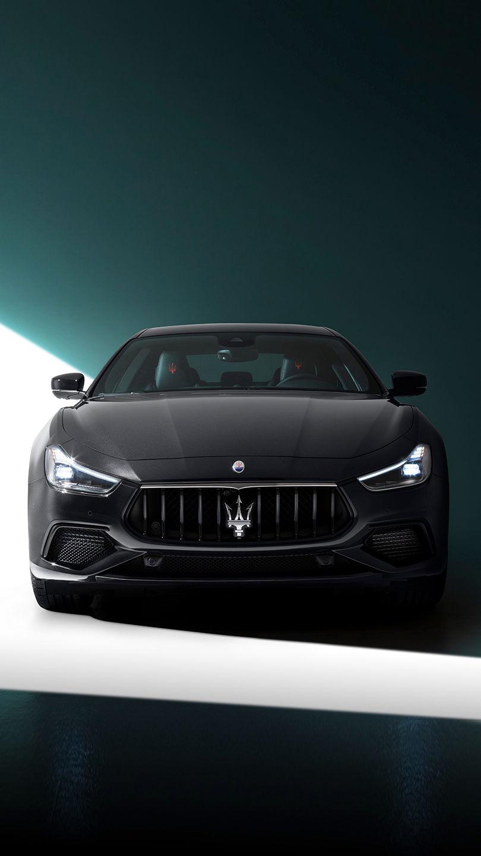 Maserati Ghibli - Schwarz - Frontansicht - Kühlergrill