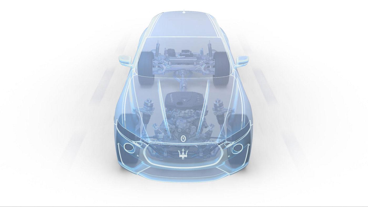 Maserati Levante Hybrid: Gewichtsverteilung