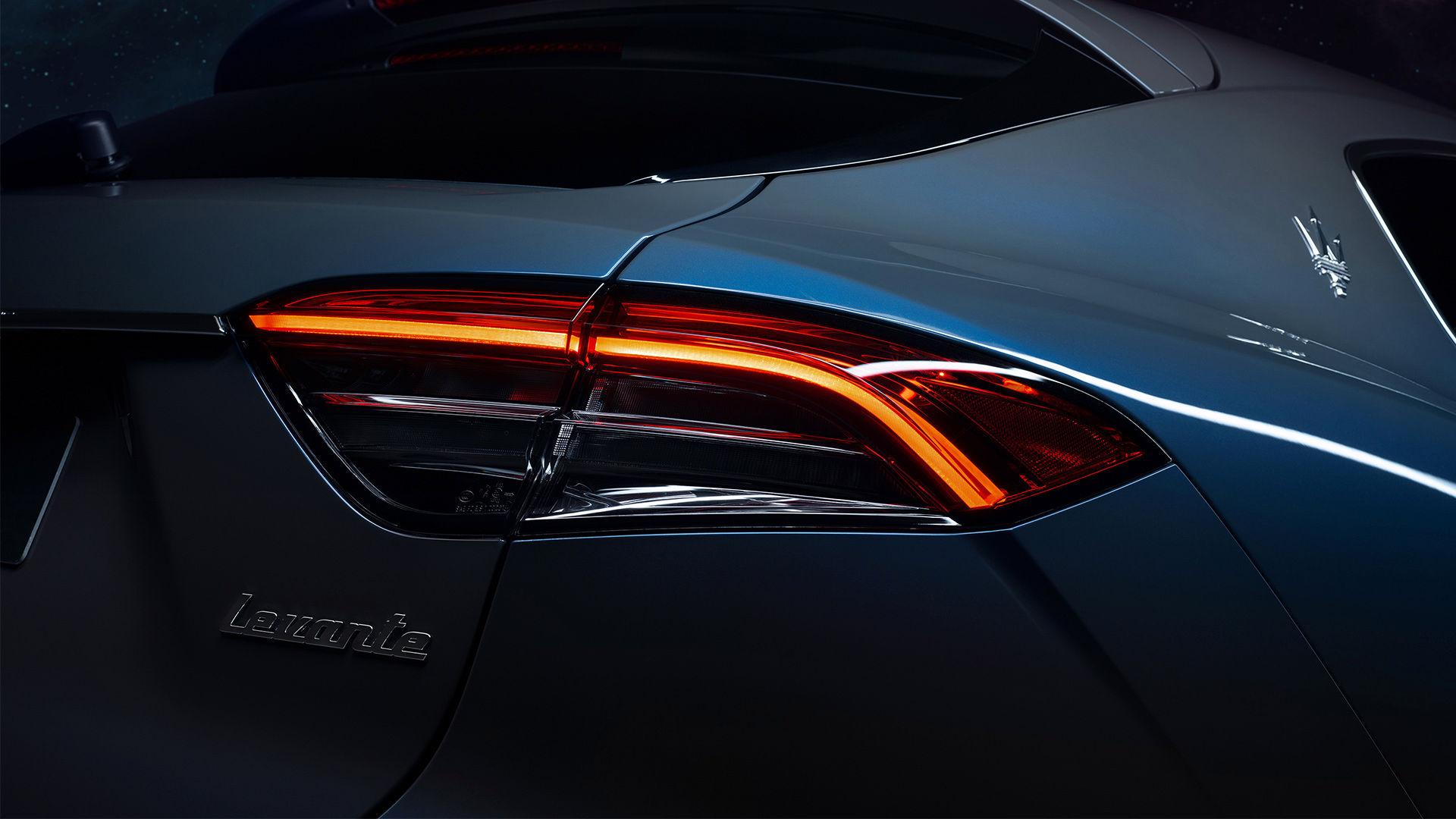 Maserati Levante Hybrid: Detailansicht der Rückleuchte