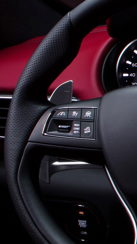 Maserati Levante - Lenkrad - Rot-Schwarz