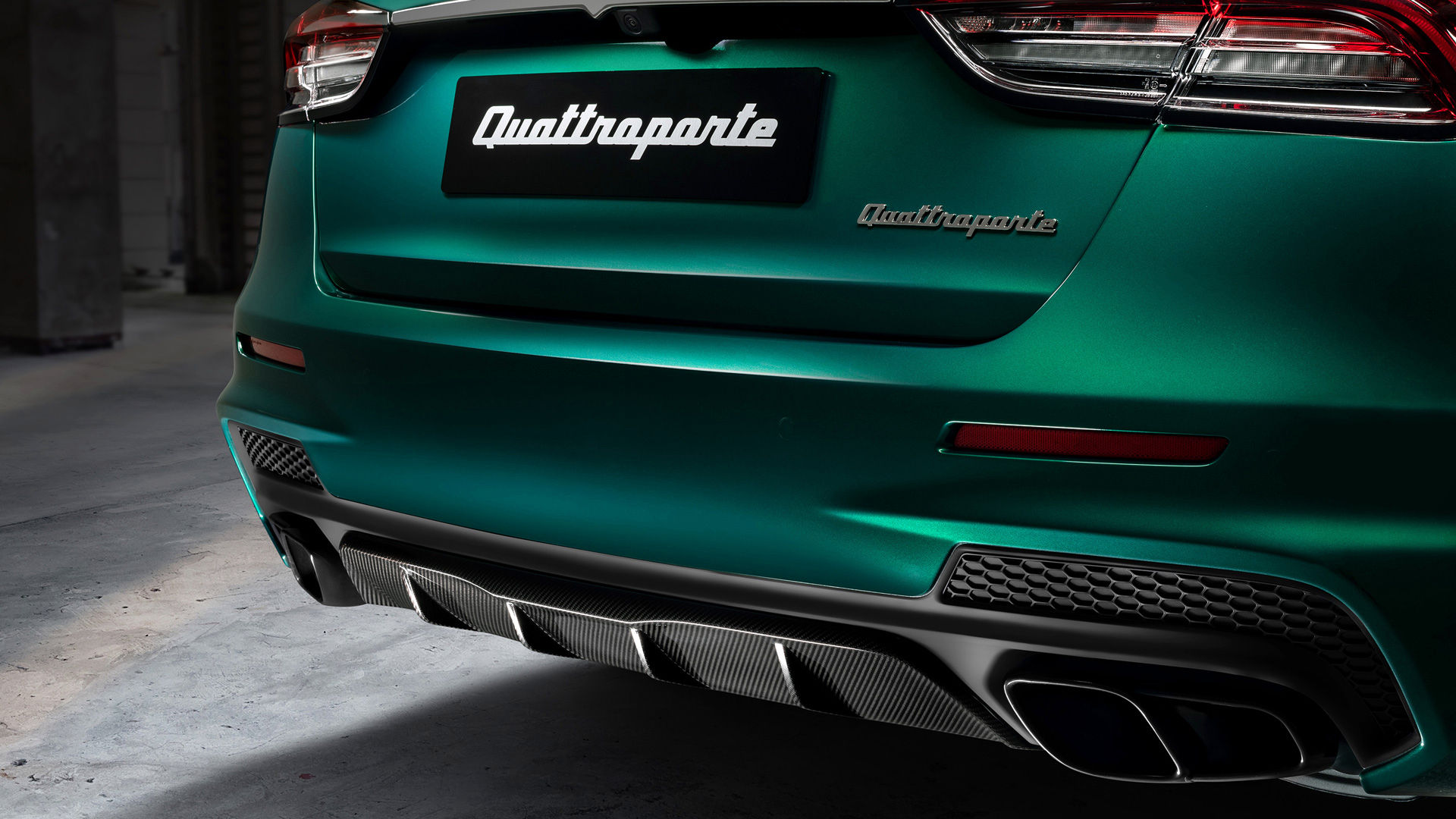 Maserati Quattroporte Trofeo - Grün - Abgassystem, Auspuff