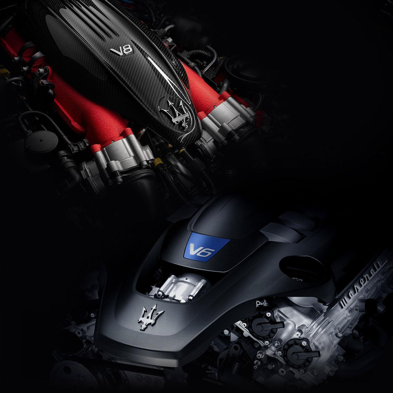 Maserati Motor: V6 und V8