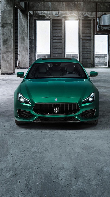 Maserati Quattroporte Trofeo - Grün - Vorderansicht