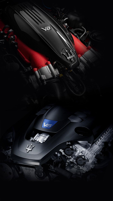 Maserati V6 und V8-Motor