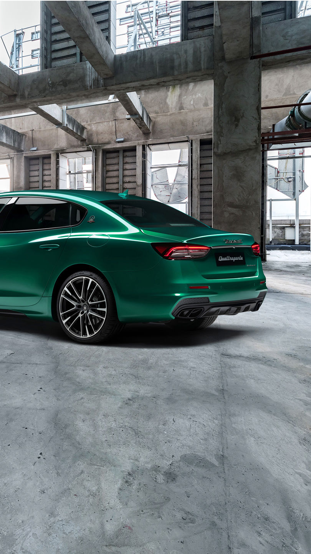 Maserati Quattroporte Trofeo - Grün - Seitenansicht