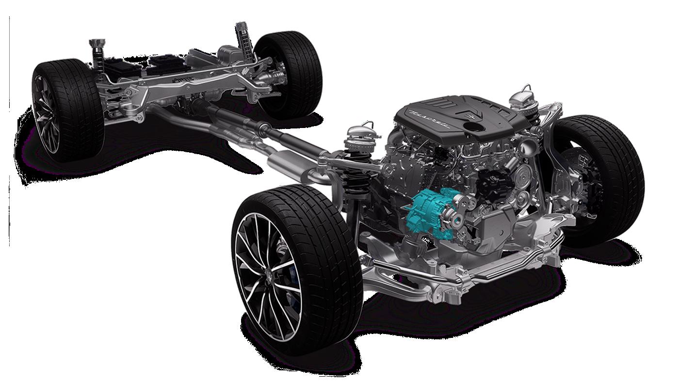 Maserati Ghibli Hybrid: Riemenstartergenerator 48-Volt