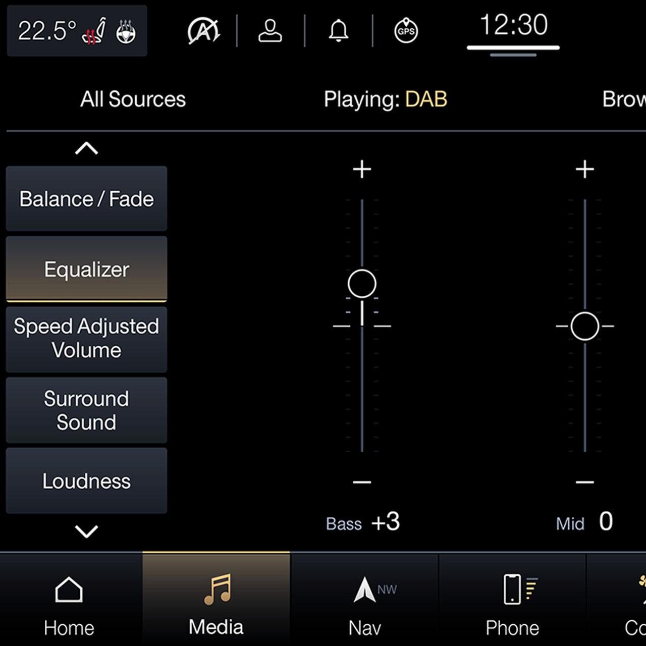 Maserati Soundsysteme Harman Kardon und Bowers & Wilkins - Playing DAB