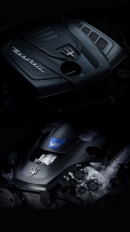 Maserati Ghibli - V6-Motor mit Dreizack Logo