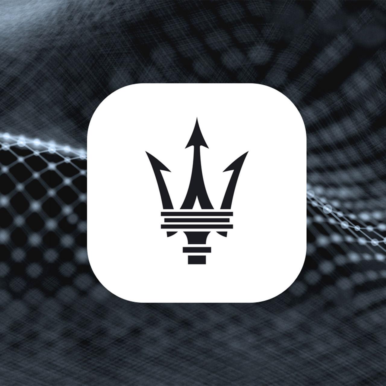 Maserati Connect Logo - Immer verbunden