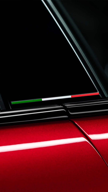 Maserati Ghibli Trofeo - Rot - Tricolore Detail