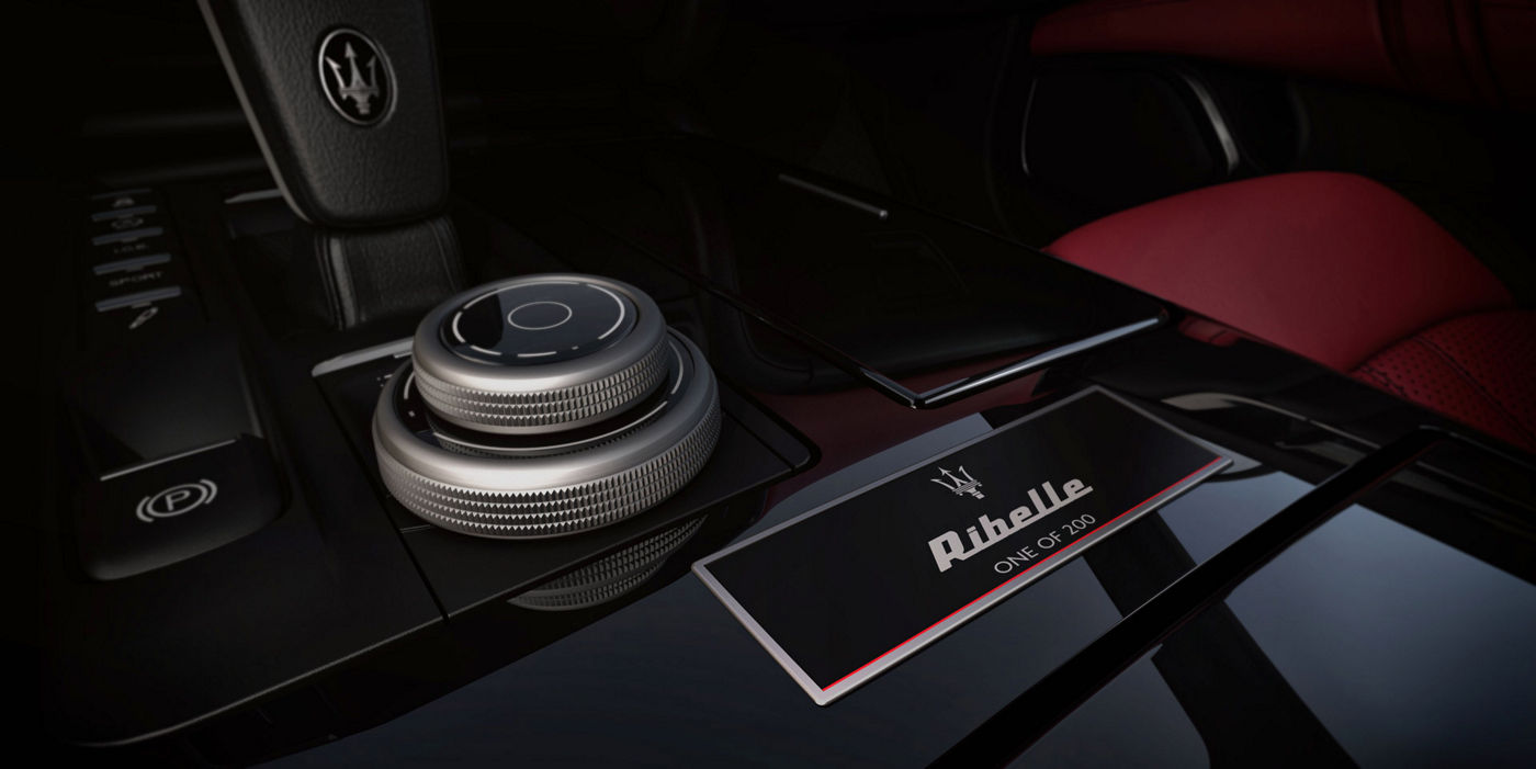 Ghibli Ribelle: One of 200. The exclusive badge on the central console
