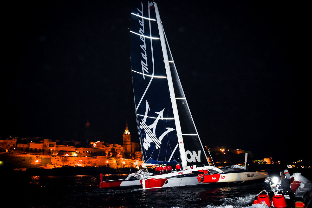 Il trimarano Maserati Multi 70 alla Rolex Middle Sea Race 2018