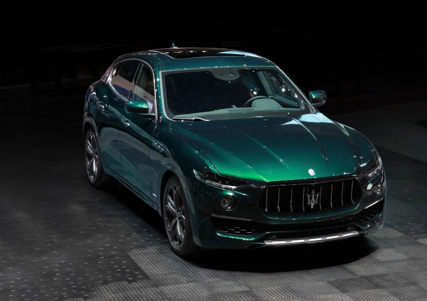 Maserati Levante auf der Milan Design Week, Ansicht von vorne