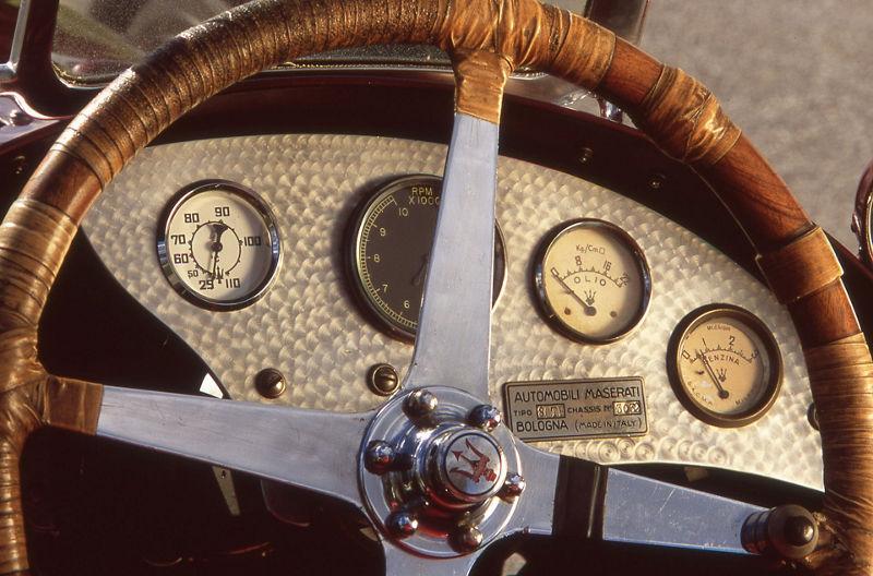 Maserati 8CTF Boyle Special - Lenkrad und Armaturenbrett
