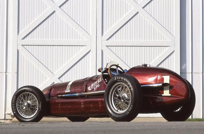 Maserati 8CTF Boyle Special von der Seite