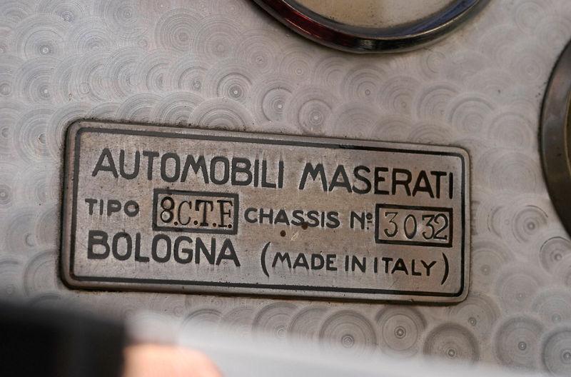 Maserati 8CTF Boyle Special - Detailansicht des Armaturenbretts