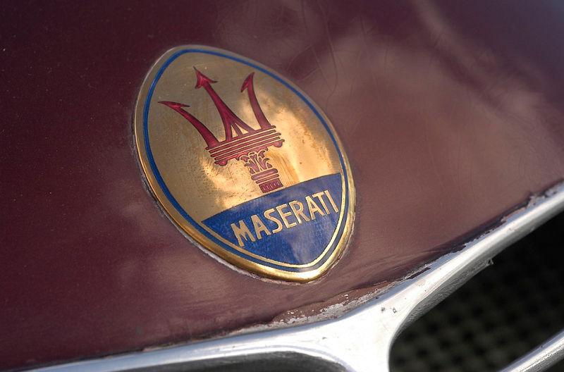 Maserati 8CTF Boyle Special - Detailansicht des Maserati Logos