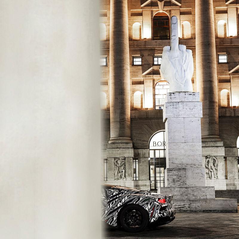 Maserati's neuer Prototyp MC20 auf Italien-Tour in Mailand
