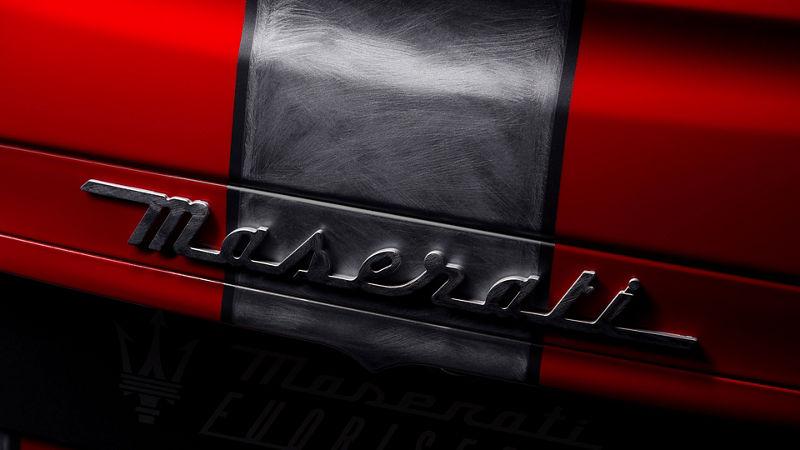 Maserati Fuoriserie Corse Levante: Detailansicht des Maserati's Schriftzug