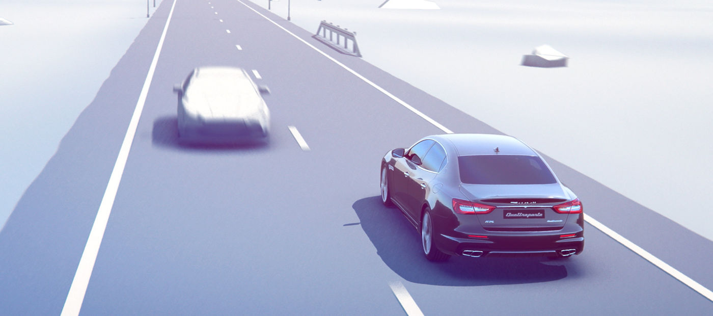 Active Blind Spot Assist - Maserati corrective steering torque to avoid potential side collisions