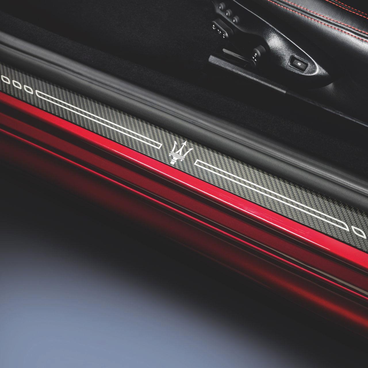 Maserati accessories and customisation -  Carbon Doorsill Plates Maserati GranTurismo