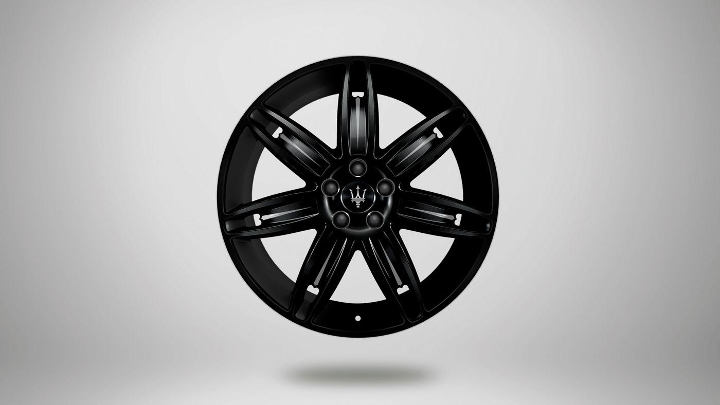 Maserati Ghibli rims - Mercurio, glossy black rim