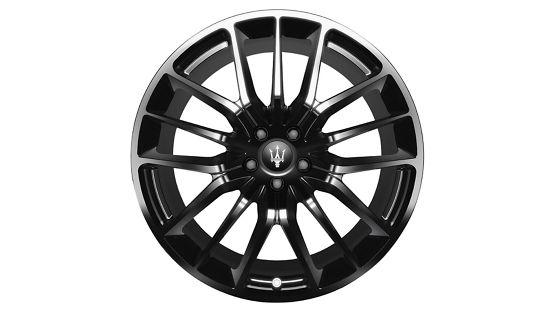 Maserati Ghibli rims - Titano Glossy Black
