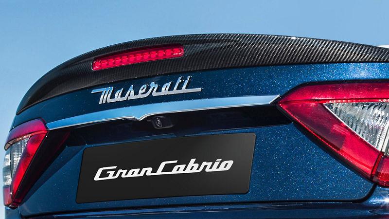 Maserati GranCabrio accessories - exterior carbon package retrofit, spoiler