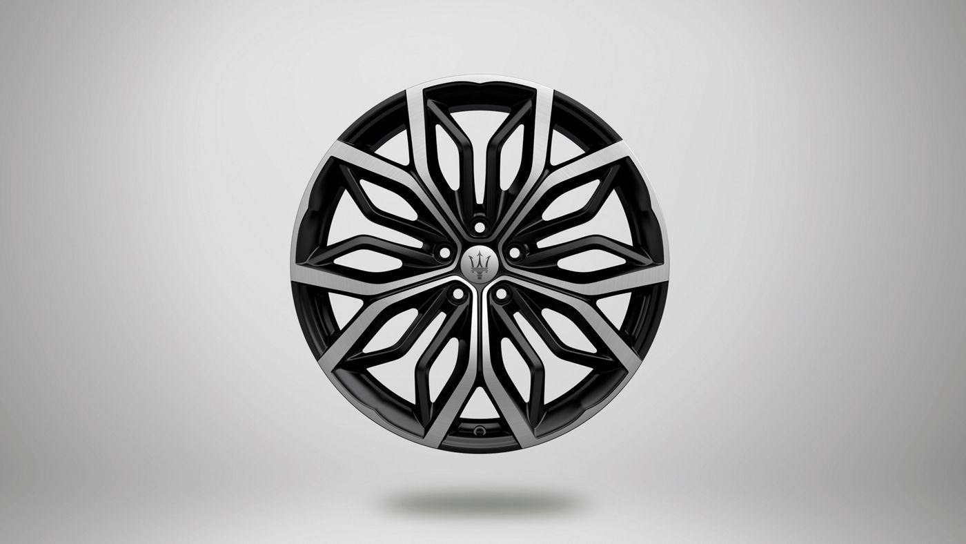 Maserati Levante rims - Eracle, black and silver stylish rim