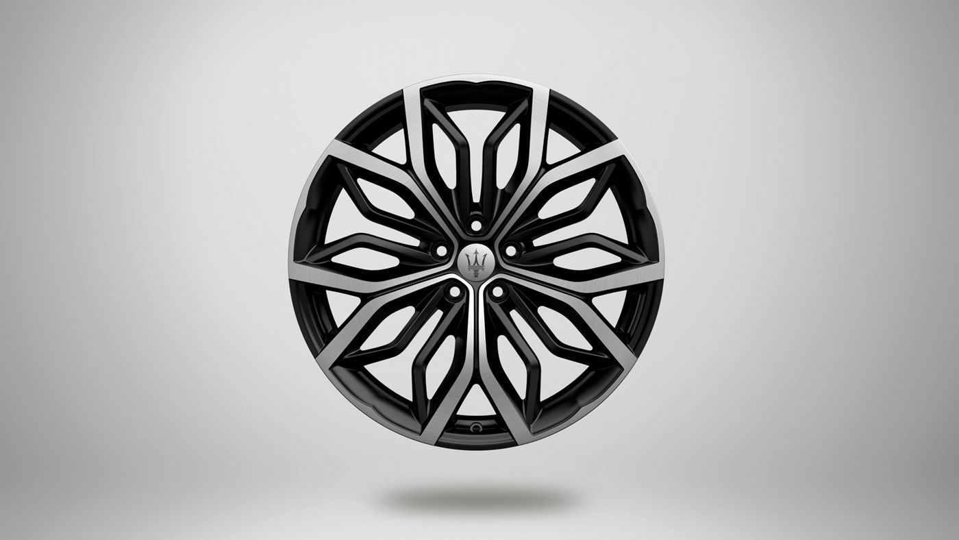 Maserati Levante rims - Eracle, black and silver stylish rim