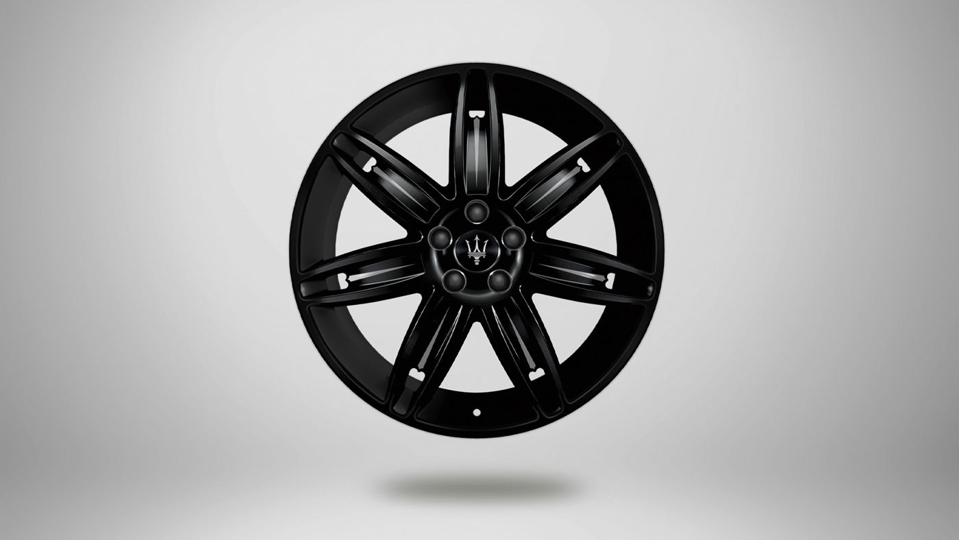 Maserati Quattroporte rims - Mercurio, glossy black and white rim