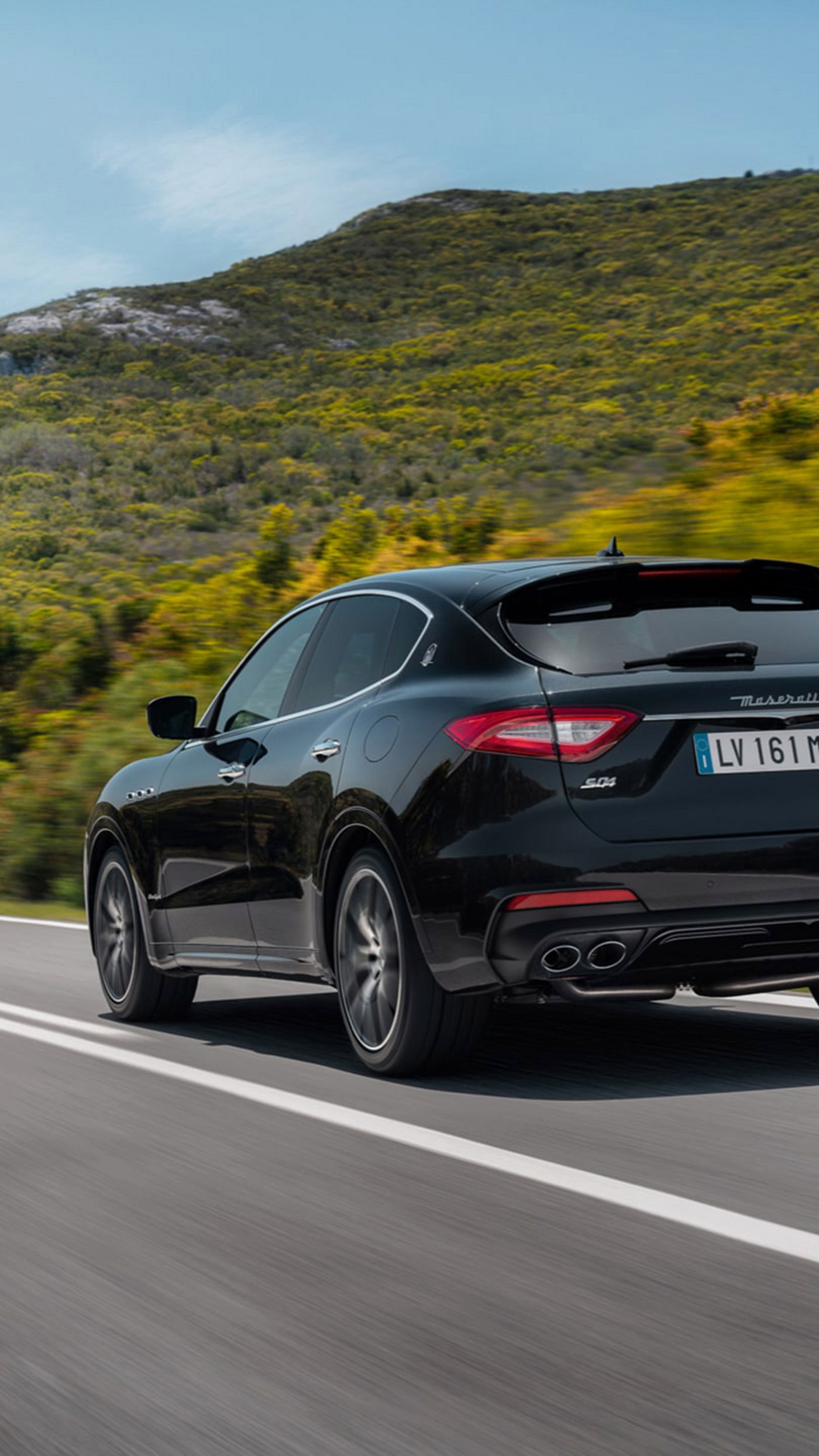 Maserati Levante S - rear view - on the road